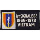 Eagle Emblems PM0327 Patch-Viet, Bdg, Army, 001St 1966-1972 Signal Bde (4-1/4