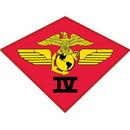 Eagle Emblems PM0332 Patch-Usmc, 04Th Airwing (3-3/4