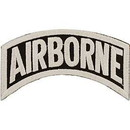 Eagle Emblems PM0351 Patch-Army, Tab, Airborne (Wht/Blk) (3-1/4
