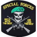 Eagle Emblems PM0364 Patch-Mess W/Best, Special Forces (3-1/4
