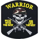 Eagle Emblems PM0365 Patch-Mess W/Best, Warrior (3-1/4
