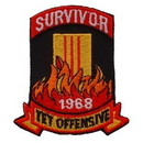 Eagle Emblems PM0391 Patch-Vietnam, Tet Ofensiv Survivor (3