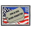 Eagle Emblems PM0482 Patch-Pow*Mia, Tags (3-1/4