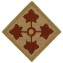 Eagle Emblems PM0534 Patch-Army, 004Th Inf.Div. (Desert) (3