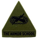 Eagle Emblems PM0552 Patch-Army, Armor, School (Subdued) (3-3/4