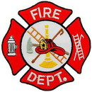 Eagle Emblems PM0593 Patch-Fire, Dept.Logo (Red/Wht) (3