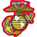 Eagle Emblems PM0608 Patch-Usmc Ega (03) (Ylw/Wht) (3-1/4