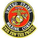 Eagle Emblems PM0644 Patch-Usmc Logo, The Few (3