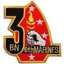 Eagle Emblems PM0651 Patch-Usmc, 03Rd Bn 6Th (3-1/4