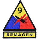 Eagle Emblems PM0689 Patch-Army, 009Th Arm.Div. (3-3/4