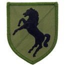 Eagle Emblems PM0709 Patch-Army, 011Th Cav.Div. (Subdued) (3