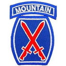 Eagle Emblems PM0777 Patch-Army, 010Th Mtn.Div. (3