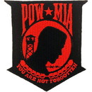 Eagle Emblems PM0862 Patch-Pow*Mia (Red/Blk) (3-1/2