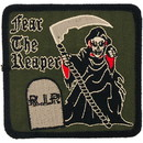 Eagle Emblems PM0884 Patch-Fear The Reaper (Subdued) (3