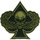 Eagle Emblems PM0951 Patch-Death Wing, Spade (Subdued) (3-1/4
