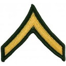 Eagle Emblems PM1001 Patch-Army, E2, Private (Pair) Dress Green (3