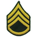 Eagle Emblems PM1006 Patch-Army, E6, Staff Sgt (Pair) Dress Green (3