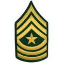 Eagle Emblems PM1010 Patch-Army, E9, Sgt.Major (Pair) Dress Green (3