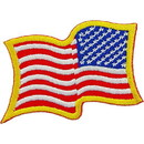 Eagle Emblems PM1115 Patch-Flag Usa, Wavy, Gold (Right Arm) (2-1/4
