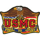 Eagle Emblems PM1147 Patch-Usmc, First To Fight (3-1/2