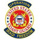 Eagle Emblems PM1169 Patch-Iraqi Freed.Uscg (3-5/8
