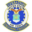 Eagle Emblems PM1173 Patch-Enduring Freed.Usaf (3-5/8