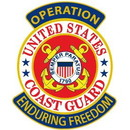 Eagle Emblems PM1174 Patch-Enduring Freed.Uscg (3-5/8