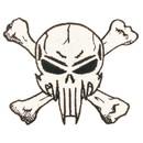 Eagle Emblems PM1283 Patch-Skull & Bones, Fangs (3-1/4