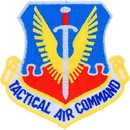 Eagle Emblems PM1331 Patch-Usaf, Tact.Air Cmd. (Shield) (3