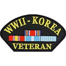 Eagle Emblems PM1339 Patch-Wwii, Hat W/Korea (3
