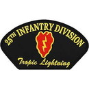 Eagle Emblems PM1351 Patch-Army, Hat, 025Th Inf Div. (3