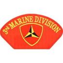 Eagle Emblems PM1354 Patch-Usmc, Hat, 003Rd Div (3