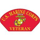 Eagle Emblems PM1383 Patch-Usmc, Hat, Veteran, Rd (3