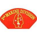 Eagle Emblems PM1387 Patch-Usmc, Hat, 002Nd Div. (3