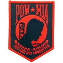 Eagle Emblems PM1396 Patch-Pow*Mia (Red/Blk) (4-1/4