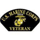 Eagle Emblems PM1477 Patch-Usmc, Hat, Veteran, Bk (3