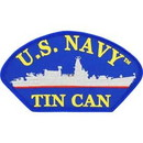 Eagle Emblems PM1496 Patch-Usn, Hat, Tin Can (3