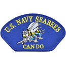 Eagle Emblems PM1600 Patch-Usn, Hat, Seabees, Can Do (3