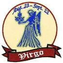 Eagle Emblems PM3032 Patch-Sign, Virgo (3-1/4