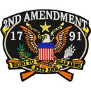 Eagle Emblems PM3151 Patch-2Nd Amendment, 1791 (3-1/4