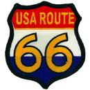Eagle Emblems PM3187 Patch-Route 66, Usa-Rw&B (3