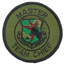 Eagle Emblems PM3573 Patch-Usaf, Sac, Mast.Team (Subdued)      Chief (3