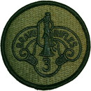Eagle Emblems PM3754 Patch-Army, 003Rd Arm.Cav. (Subdued)  Brave Rifles (3