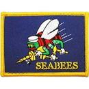 Eagle Emblems PM3825 Patch-Usn, Seabees, Flag (2-1/2