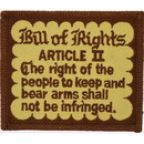 Eagle Emblems PM4041 Patch-Gun, Bill Of Rights (3-1/4