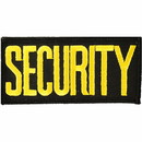 Eagle Emblems PM4073 Patch-Security Tab (Ylw/Blk) (2