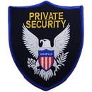 Eagle Emblems PM4093 Patch-Security, Private (Gld/Blk) Shield W/Eagle (4-1/2
