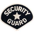 Eagle Emblems PM4096 Patch-Security Guard (Wht/Blk) (4-3/4