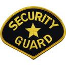 Eagle Emblems PM4098 Patch-Security Guard (Gld/Blk) (4-3/4