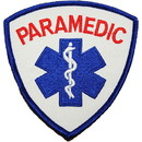 Eagle Emblems PM4101 Patch-Paramedic, Logo (Red/Wht) (3-5/8
